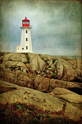 Photograph - Lighthouse In Peggy's Cove by Carolyn Derstine