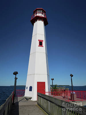 Photograph - Lighthouse In St. Ignace by Ann Horn