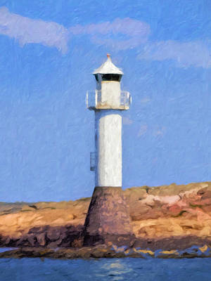 Lightscape Painting - Lighthouse In Sunlight by Lutz Baar