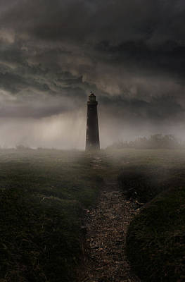 Photograph - Lighthouse In The Rain by Jaroslaw Blaminsky