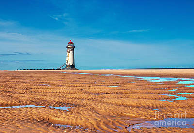 Lighthouse In The Sun  Art Print