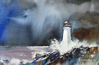 Painting - Lighthouse by John Byram