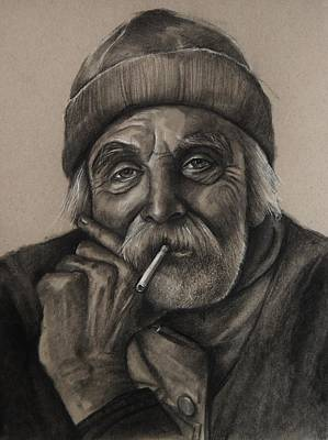 Drawing - Lighthouse Keeper by Jean Cormier