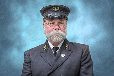 Old Man Digital Art - Lighthouse Keeper Portrait by Randy Steele