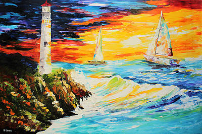 Painting - Lighthouse by Kevin Brown