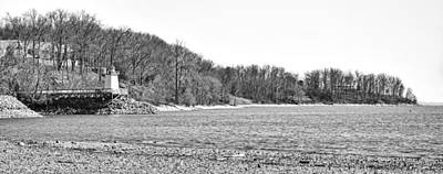 Photograph - Lighthouse Landing Inlet, Kentucky Lake - B/w by Greg Jackson