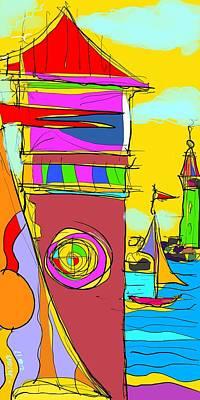 Digital Art - Lighthouse Landing by Jason Nicholas