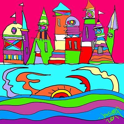 Digital Art - Lighthouse Landing - Sea Creature by Jason Nicholas
