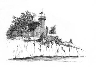Drawing - Lighthouse by Lawrence Tripoli
