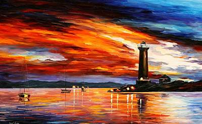 Lighthouse Art Print by Leonid Afremov