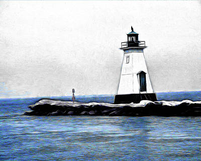 Digital Art - Lighthouse by Leslie Montgomery