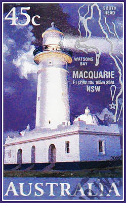 Painting - Lighthouse Macquarie by Lanjee Chee