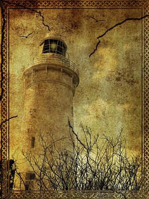 Art Print featuring the digital art Lighthouse by Margaret Hormann Bfa
