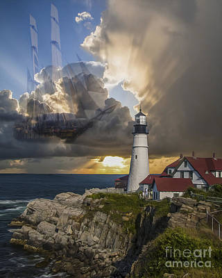 Digital Art - Lighthouse Memory II 2015 by Kathryn Strick