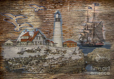 Digital Art - Lighthouse Montage 2015 by Kathryn Strick
