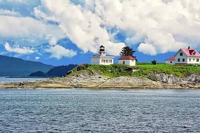 Photograph - Lighthouse Near Juneau Ak by Kirsten Giving