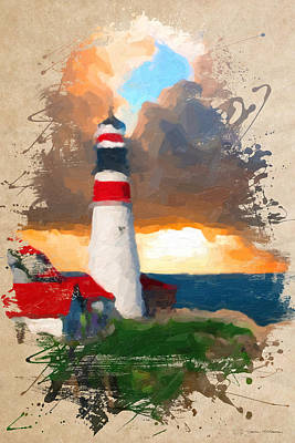 Digital Art - Lighthouse No.1  by Serge Averbukh