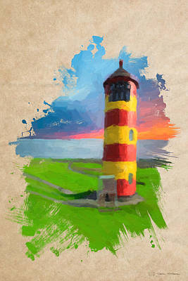Digital Art - Lighthouse No.3 by Serge Averbukh