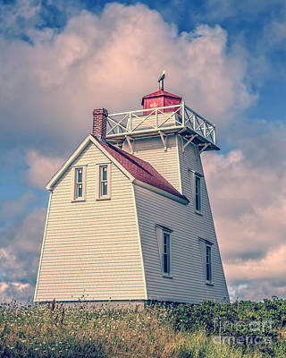 Photograph - Lighthouse North Rustico Prince Edward Island by Edward Fielding
