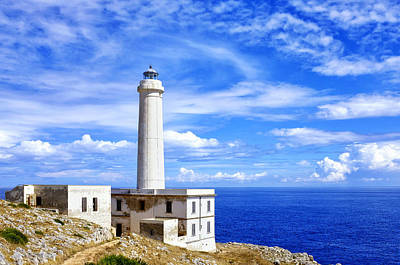 Photograph - Lighthouse Of Capo D'otranto by Fabrizio Troiani