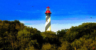 Painting - Lighthouse Of Saint Augustine by David Lee Thompson