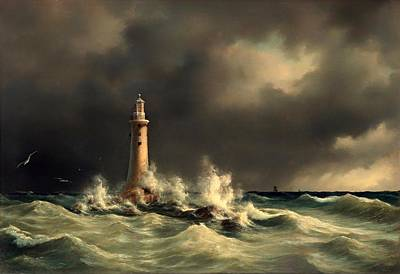 Historic Lighthouses Painting - Lighthouse Of The Great Belt by Mountain Dreams