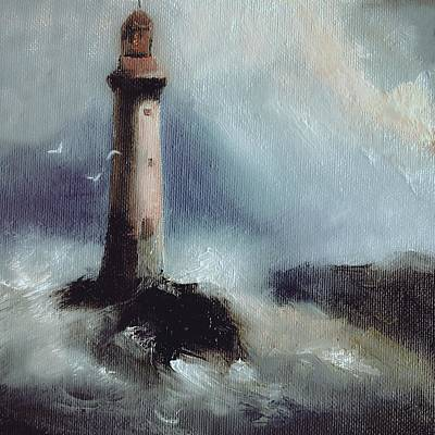 Painting - Lighthouse Oil Painting by Michele Carter