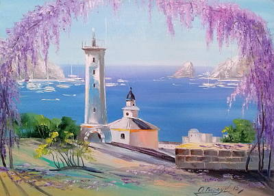 Lighthouse Print by Olha Darchuk