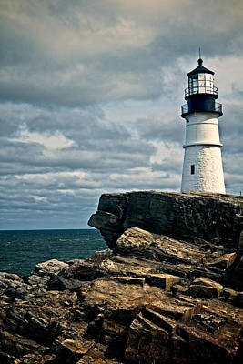 Photograph - Lighthouse On A Cliff by Kim Wilson