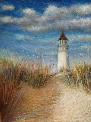 Painting - Lighthouse On A Hill by Susan Jenkins