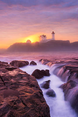 Photograph - Lighthouse On Fire by Michael Blanchette