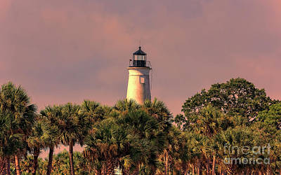 Photograph - Lighthouse On The Bay - Saint Marks, Florida by Bill And Deb Hayes