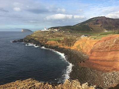 Photograph - Lighthouse On The Coast Of Terceira by Kelly Hazel