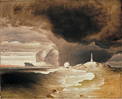 Lighthouse On The Norwegian Coast Art Print