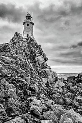 Photograph - Lighthouse On The Rocks by James Billings