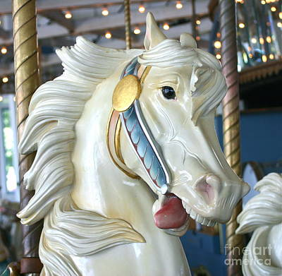 Lighthouse Park Carousel B Art Print by Cindy Lee Longhini