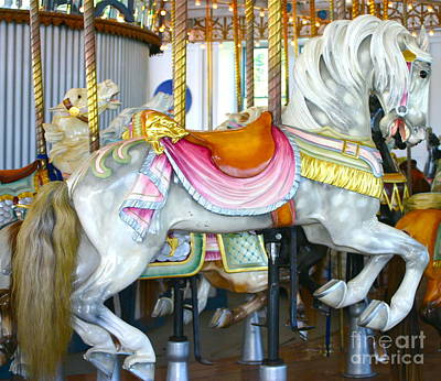 Lighthouse Park Carousel D Art Print by Cindy Lee Longhini
