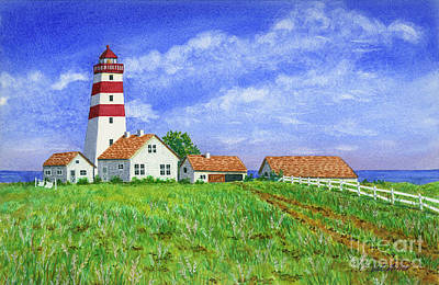 Painting - Lighthouse Pasture by Val Miller