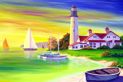 East Coast Lighthouse Painting - Lighthouse by Patrick Parker