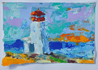 Painting - Lighthouse Peggy's Cove by Eduard Meinema