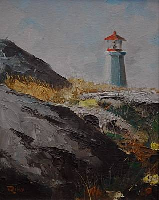 Lighthouse Peggys Cove Ns Art Print by Chris  Riley