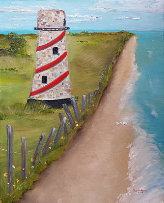 Painting - Lighthouse Peninsula by Judith Rhue