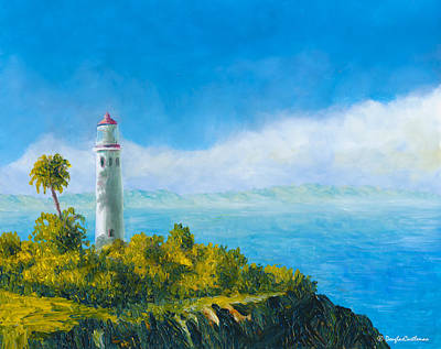 Painting - Lighthouse Plein Air by Douglas Castleman
