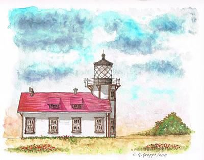 Lighthouse Point Cabrillo - California Art Print
