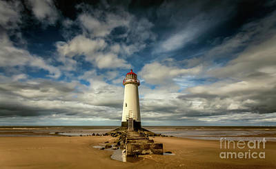 Talacre Photograph - Lighthouse Point Of Ayre by Adrian Evans