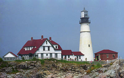 Photograph - Lighthouse - Portland Head, Maine 11 by Frank Romeo