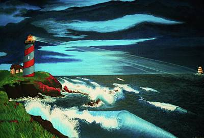 Lighthouse Rescue Art Print