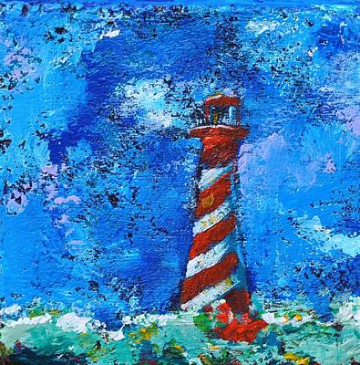 Painting - Lighthouse Rock, Blue Impression by Eduard Meinema