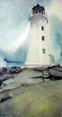 Painting - Lighthouse Rock by Ed Heaton