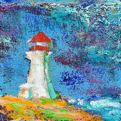 Painting - Lighthouse Rock, Peggy's Cove by Eduard Meinema